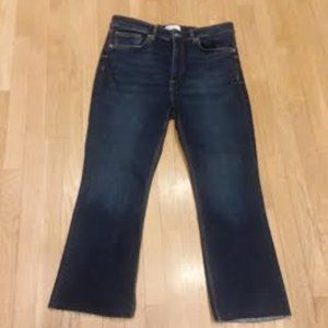 ZARA - Frayed hem straight leg jean-size 10